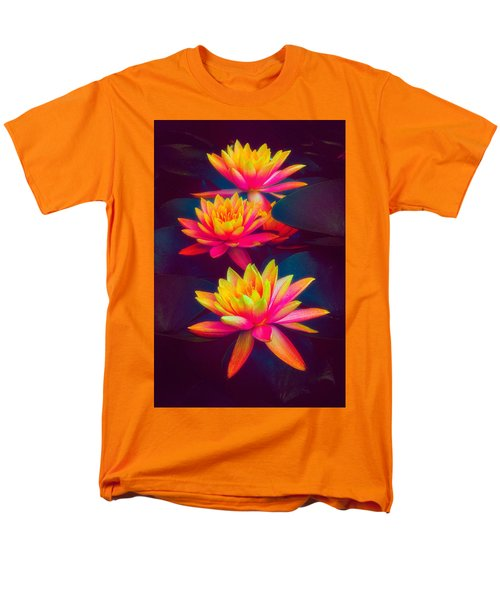 Men's T-Shirt  (Regular Fit) featuring the photograph Three Waterlilies by Chris Lord