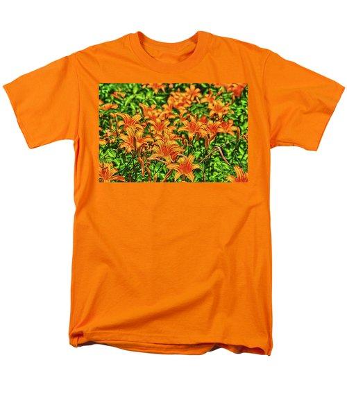 Tiger Lilies Men's T-Shirt  (Regular Fit) by Pat Cook