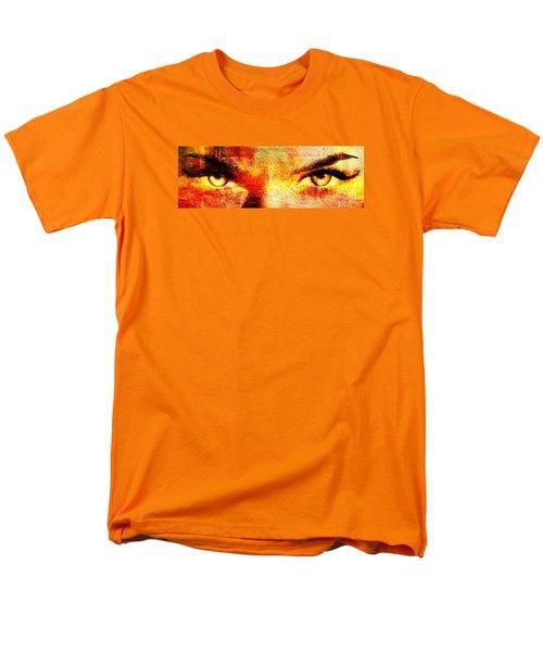 Men's T-Shirt  (Regular Fit) featuring the digital art Torrid Eyes by Andrea Barbieri