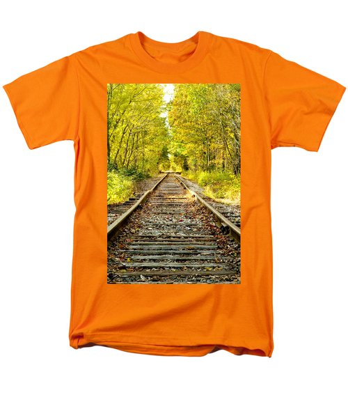 Track To Nowhere Men's T-Shirt  (Regular Fit) by Greg Fortier