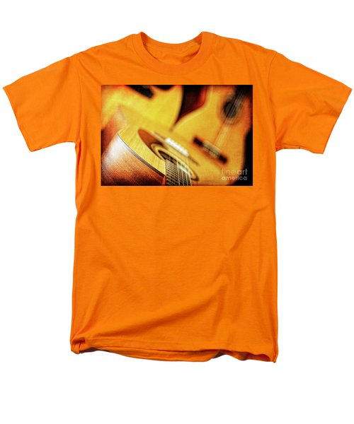 Men's T-Shirt  (Regular Fit) featuring the photograph Trio Of Acoustic Guitars by Lincoln Rogers
