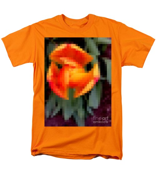 Men's T-Shirt  (Regular Fit) featuring the photograph Tulip 1 Honoring Princess Diana by Richard W Linford