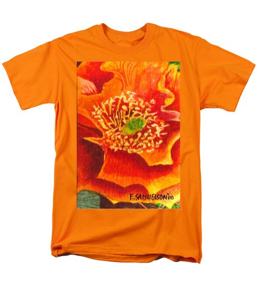 Tulip Prickly Pear Men's T-Shirt  (Regular Fit) by Eric Samuelson