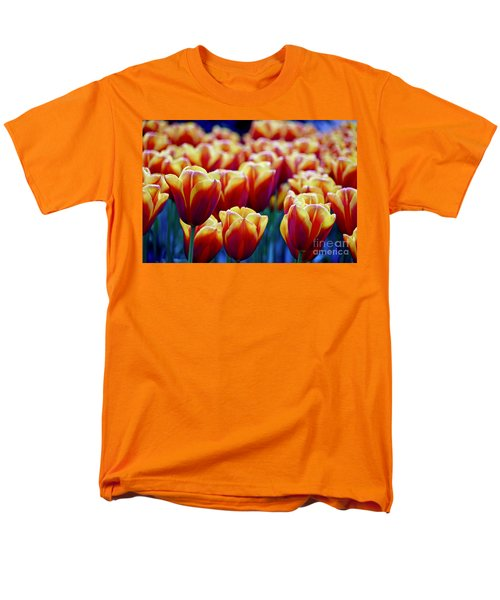 Tulips At Sunset Men's T-Shirt  (Regular Fit) by Michael Cinnamond