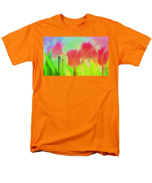 Tulips In Abstract 2 Men's T-Shirt  (Regular Fit) by Cathy Anderson