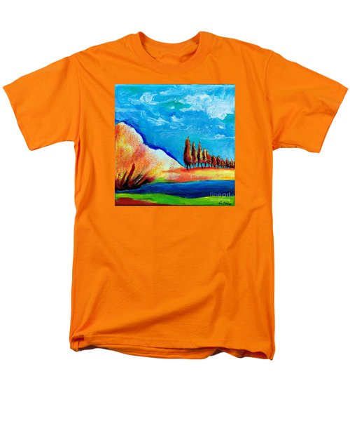 Tuscan Cypress Men's T-Shirt  (Regular Fit) by Elizabeth Fontaine-Barr