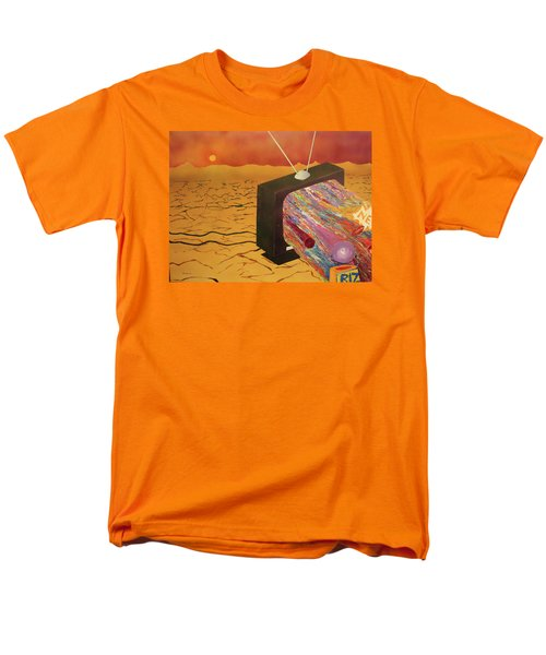 Men's T-Shirt  (Regular Fit) featuring the painting Tv Wasteland by Thomas Blood