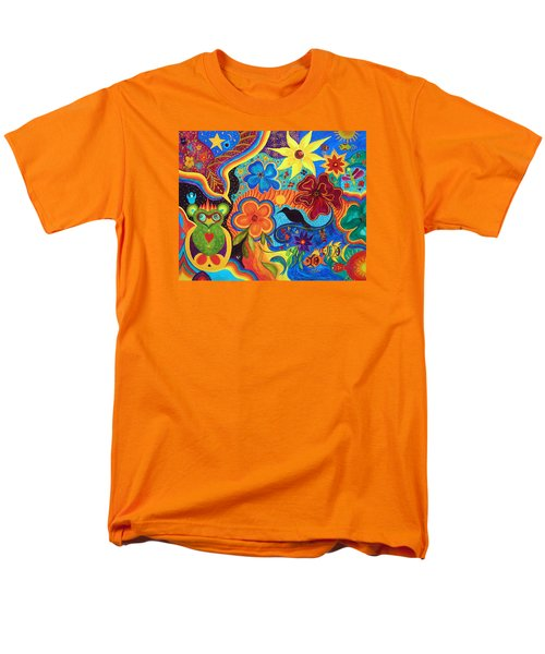 Men's T-Shirt  (Regular Fit) featuring the painting Bluebird Of Happiness by Marina Petro