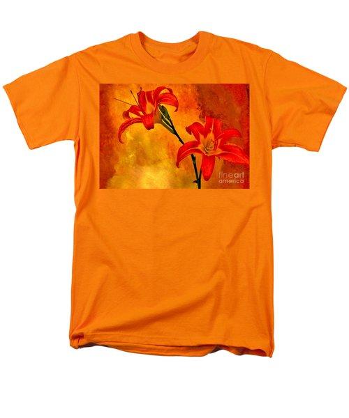 Men's T-Shirt  (Regular Fit) featuring the digital art Two Tigerlilies by Marsha Heiken