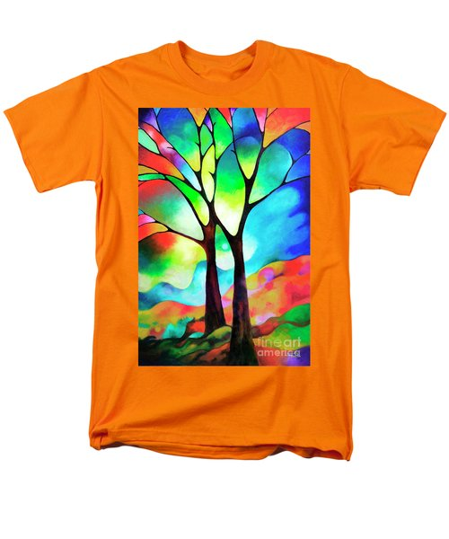 Two Trees Men's T-Shirt  (Regular Fit) by Sally Trace
