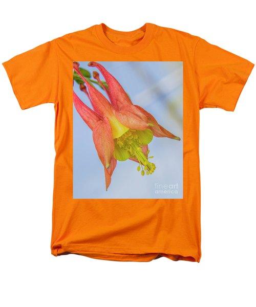 Under A Wild Columbine Men's T-Shirt  (Regular Fit) by Barbara Bowen