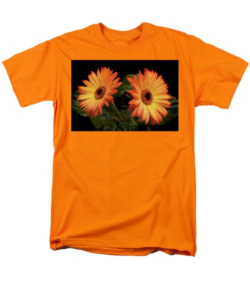 Men's T-Shirt  (Regular Fit) featuring the photograph Vibrant Gerbera Daisies by Terence Davis