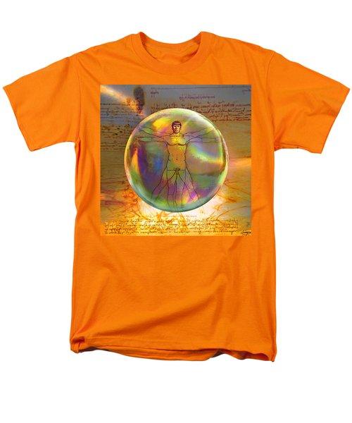 Men's T-Shirt  (Regular Fit) featuring the digital art Vitruvian Vulcan by Robin Moline