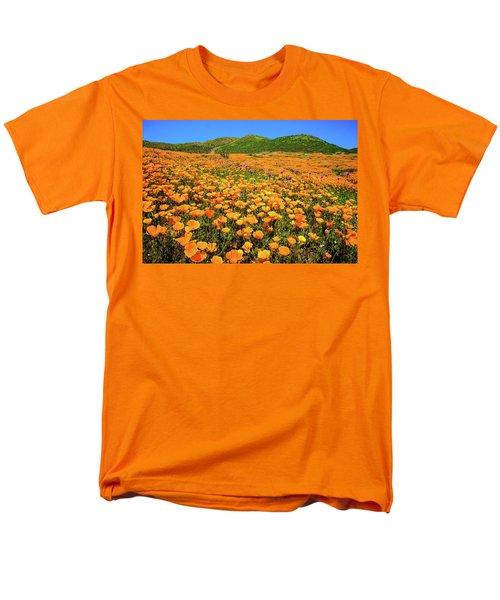 Walker Canyon Wildflowers Men's T-Shirt  (Regular Fit) by Lynn Bauer