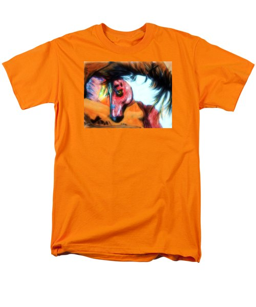 Men's T-Shirt  (Regular Fit) featuring the painting War Paint Horse by Ayasha Loya