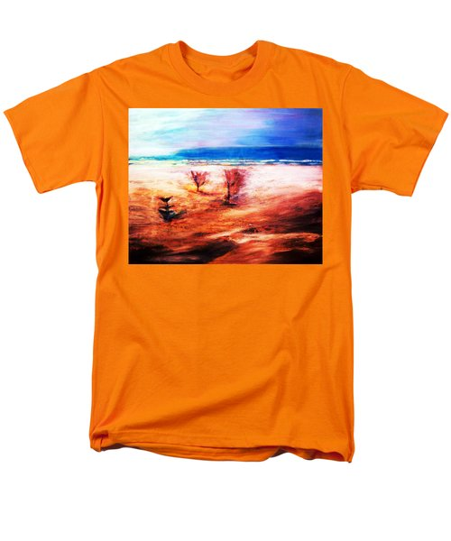 Men's T-Shirt  (Regular Fit) featuring the painting Water And Earth by Winsome Gunning