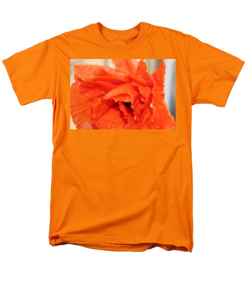 Water On Orange Men's T-Shirt  (Regular Fit) by Christin Brodie