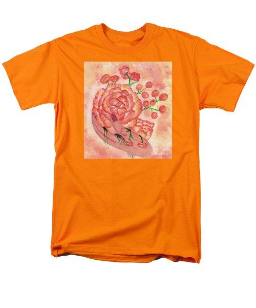 watercolor painting, FRAGILE by Saribelle Men's T-Shirt  (Regular Fit) by Saribelle Rodriguez