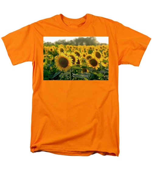 Waving Sunflowers In A Field Men's T-Shirt  (Regular Fit) by Karen McKenzie McAdoo