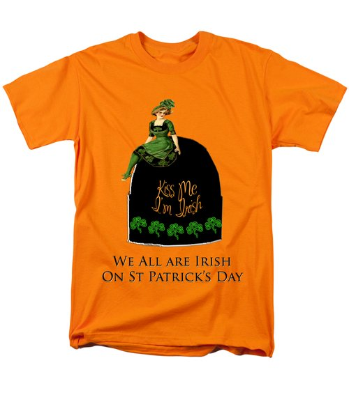 Men's T-Shirt  (Regular Fit) featuring the digital art We All Irish This Beautiful Day by Asok Mukhopadhyay