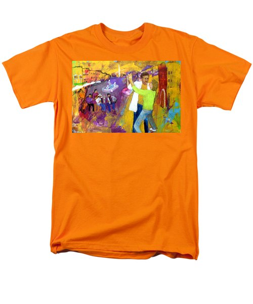 We Tangoed On The Piazza Navono Men's T-Shirt  (Regular Fit) by Keith Thue