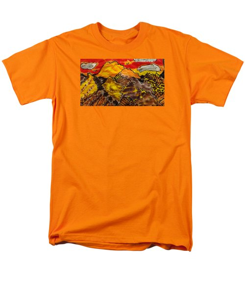 Men's T-Shirt  (Regular Fit) featuring the painting Western Hills 4 by Don Koester