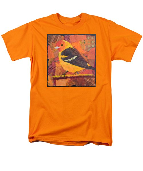 Men's T-Shirt  (Regular Fit) featuring the painting Western Tanager by Nancy Jolley