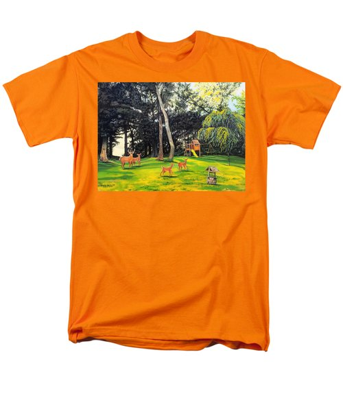 Men's T-Shirt  (Regular Fit) featuring the painting When World's Collide by Kevin F Heuman
