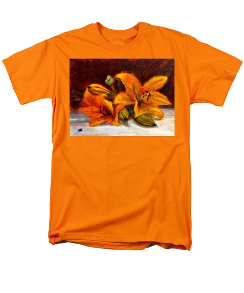 Men's T-Shirt  (Regular Fit) featuring the painting Whispers Of Love..2 by Cristina Mihailescu