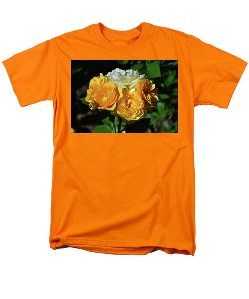 White And Yellow Rose Bouquet 001 Men's T-Shirt  (Regular Fit) by George Bostian