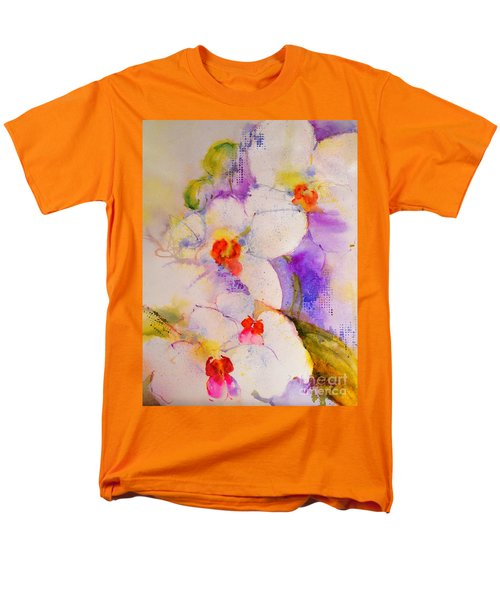 White Orchids Men's T-Shirt  (Regular Fit) by Betty M M Wong