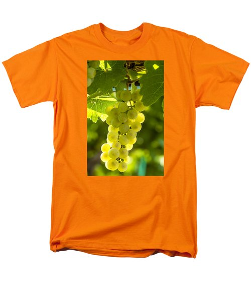 White Wine Grapes Lit By The Sun Men's T-Shirt  (Regular Fit) by Teri Virbickis