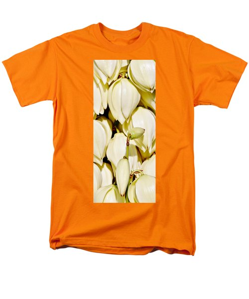 white Yucca flowers Men's T-Shirt  (Regular Fit) by Werner Lehmann