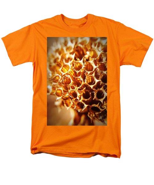 Winter Bee Balm Macro Men's T-Shirt  (Regular Fit) by Bruce Carpenter