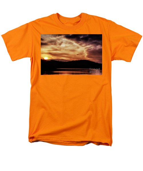 Men's T-Shirt  (Regular Fit) featuring the photograph Winter Sunset by Thomas R Fletcher