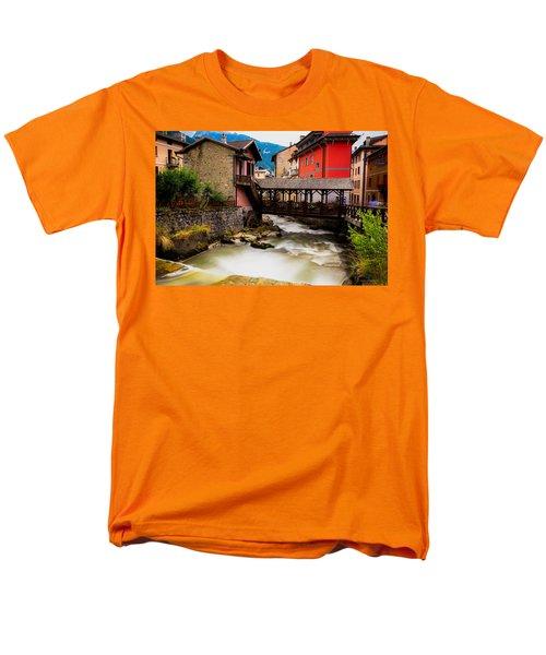 Wood Bridge On The River Men's T-Shirt  (Regular Fit) by Cesare Bargiggia