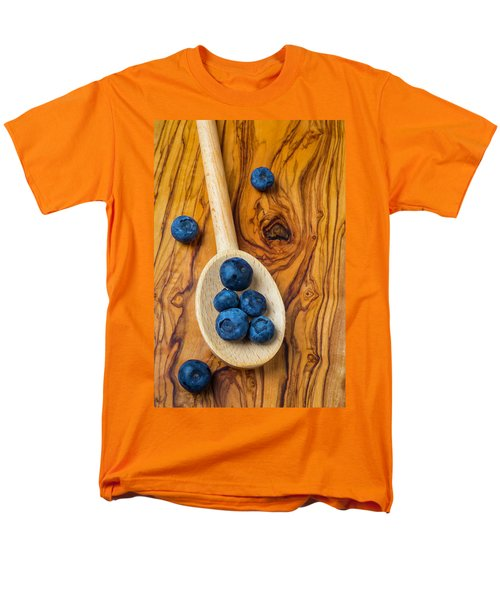 Wooden Spoon And Blueberries Men's T-Shirt  (Regular Fit) by Garry Gay