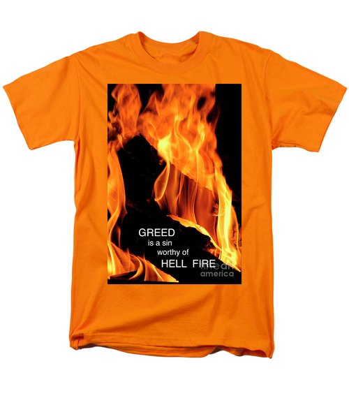 Men's T-Shirt  (Regular Fit) featuring the photograph worthy of HELL fire by Paul W Faust - Impressions of Light