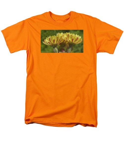 Yellow And Red Cactus Flowers Men's T-Shirt  (Regular Fit) by Elvira Butler