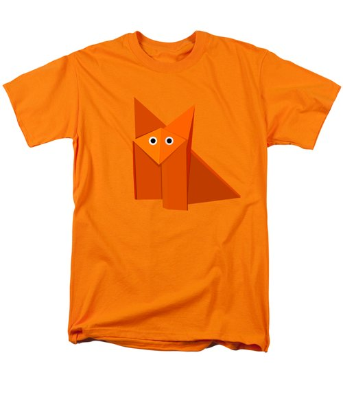 Yellow Cute Origami Fox Men's T-Shirt  (Regular Fit) by Boriana Giormova