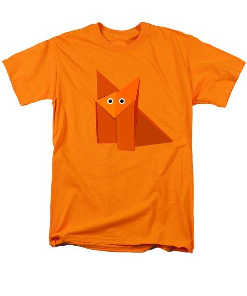 Yellow Cute Origami Fox Men's T-Shirt  (Regular Fit)