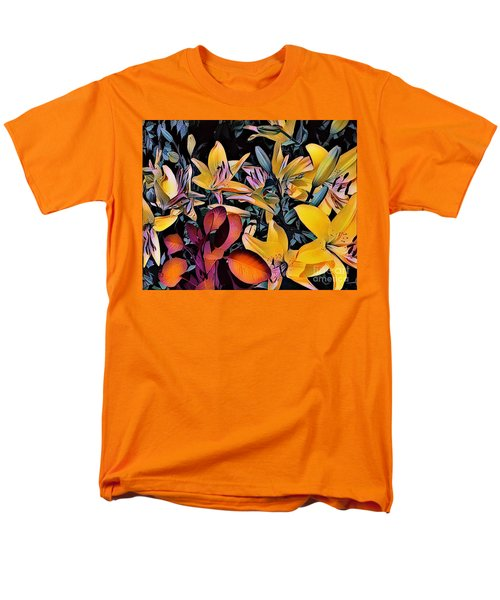 Men's T-Shirt  (Regular Fit) featuring the photograph Yellow Daylilies by Kathie Chicoine