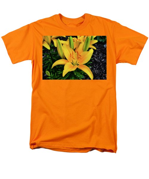 Men's T-Shirt  (Regular Fit) featuring the photograph Yellow Lily 008 by George Bostian