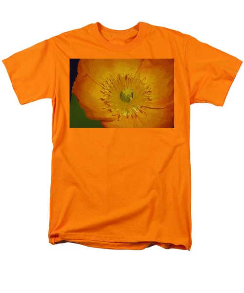 Men's T-Shirt  (Regular Fit) featuring the photograph Yellow Poppy by Donna Bentley