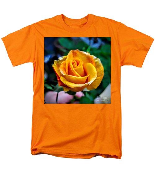 Yellow Rose Men's T-Shirt  (Regular Fit) by Garnett Jaeger