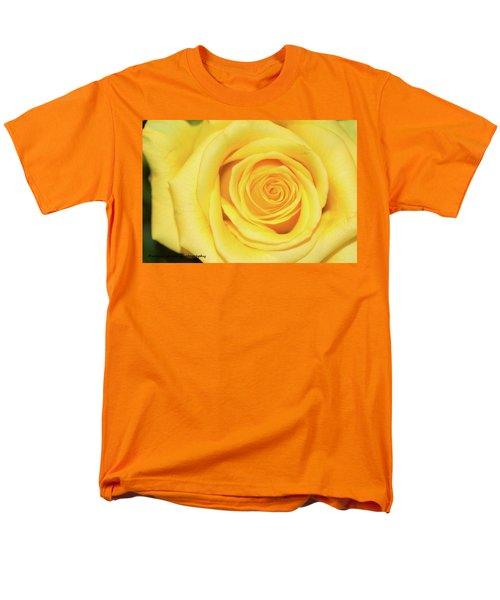 Yellow Rose Men's T-Shirt  (Regular Fit) by Nance Larson
