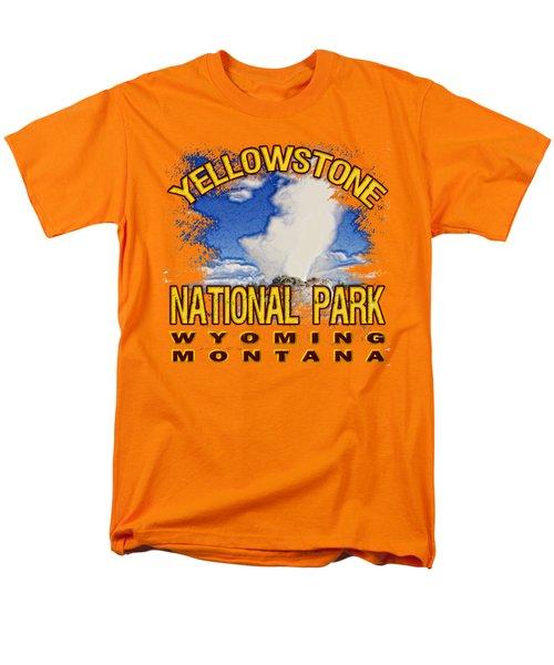 Yellowstone National Park Men's T-Shirt  (Regular Fit) by David G Paul