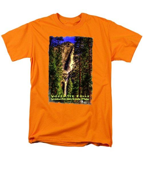 Yosemite Falls Framed By Ponderosa Pines Men's T-Shirt  (Regular Fit) by Roger Passman