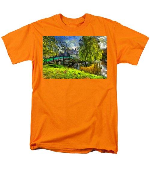 Zaanse Schans Men's T-Shirt  (Regular Fit) by Eva Lechner