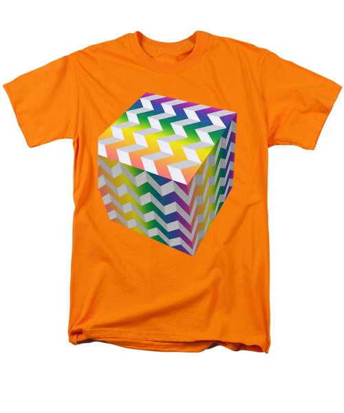 Zig Zag Cube Men's T-Shirt  (Regular Fit) by Chuck Staley